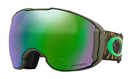 a0a175e63cc6 Image Unavailable. Image not available for. Color  Oakley Airbrake XL Snow  Goggles Camo Vine Jungle with Prizm Jade ...