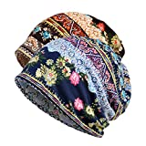 Women's Sleep Soft Headwear Cotton Lace Beanie Hat Hair Covers Night Sleep Cap (Color mix7&8)