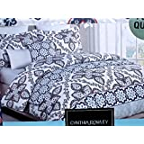 cynthia rowley Floral Medallion FULL/QUEEN 3-PC DUVET SET Bohemian Damask Pattern