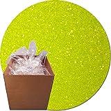 Glitter My World! Craft Glitter: 25lb Box: Fluorescent Moonbeam Yellow