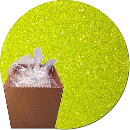 Glitter My World! Craft Glitter: 25lb Box: Fluorescent Moonbeam Yellow by Glitter My World!