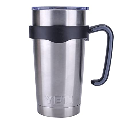 b6bbd4e2934 Amazon.com | Tumbler Handle for 20 oz Yeti Rambler Cooler Cup, Rtic Mug,  Sic, Ozark Trail Grip and more (20 Oz, Black): Tumblers & Water Glasses