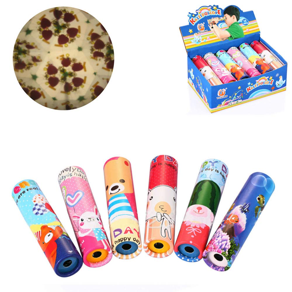 HAPTIME Set of 12 Classic Kaleidoscopes Educational Toys for Kids Children Party Favors Party Bag Fillers