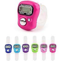 Teepao - Mini Contador de Mano para Dedos, 5 dígitos, LCD, Digital, electrónico, Contador Digital para Deportes/Entrenamiento/Escuela/Eventos (Color al Azar)