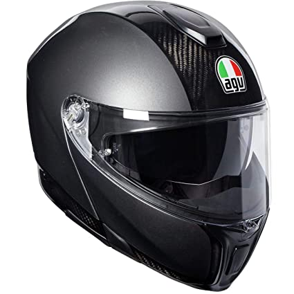 389faf4c Amazon.com: AGV Unisex-Adult Flip-Up Sport Modular Motorcycle Helmet Gray/ Black Small: Automotive