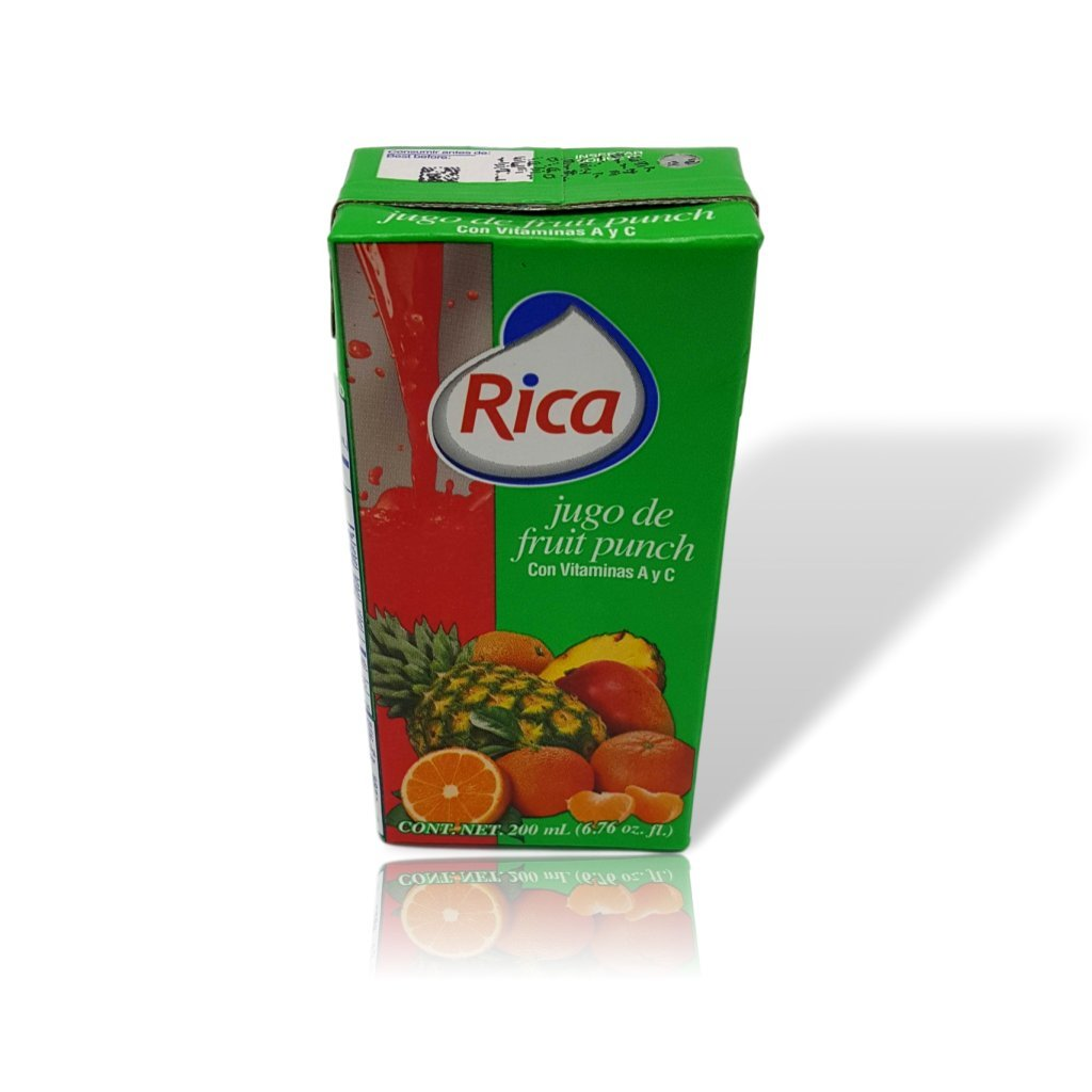 Amazon.com : Rica Fruit Punch Juice 200 ml (12 pack) : Grocery & Gourmet Food