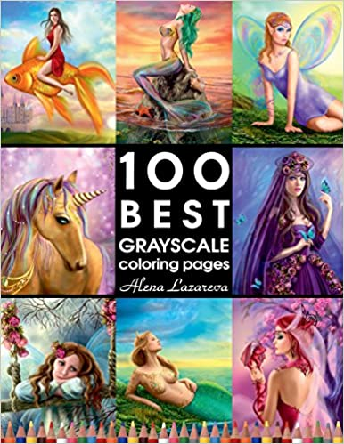 Amazon Fr 100 Best Grayscale Coloring Pages By Alena