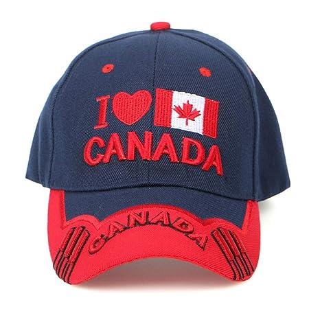zhuzhuwen Gorra de béisbol con Bordado Tridimensional de Canada ...