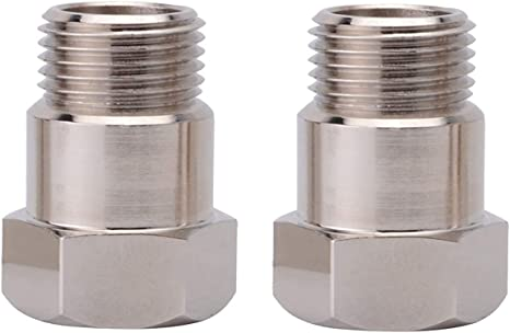 Brass 02 Bung Extension M18X1.5 O2 Oxygen Sensor Angled Extender Spacer