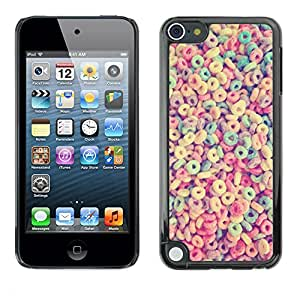 Planetar® ( Breakfast Cereal Loops Colorful Pattern ) Apple iPod Touch 5 Fundas Cover Cubre Hard Case Cover