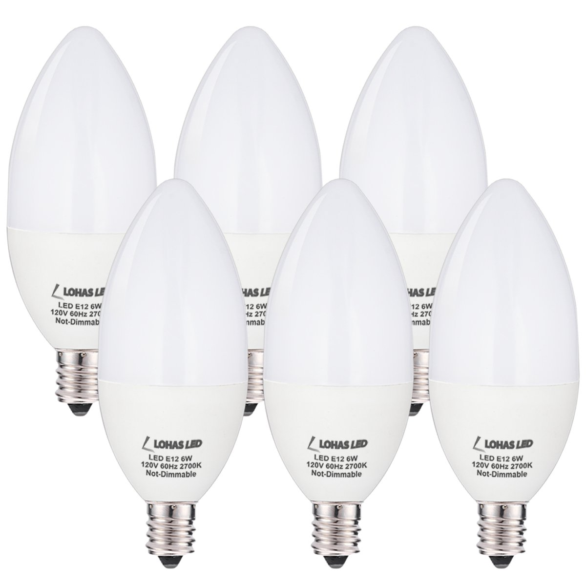 Candelabra Led Bulb: LOHAS Candelabra Bulb, 60 Watt LED Light Bulbs Equivalent
