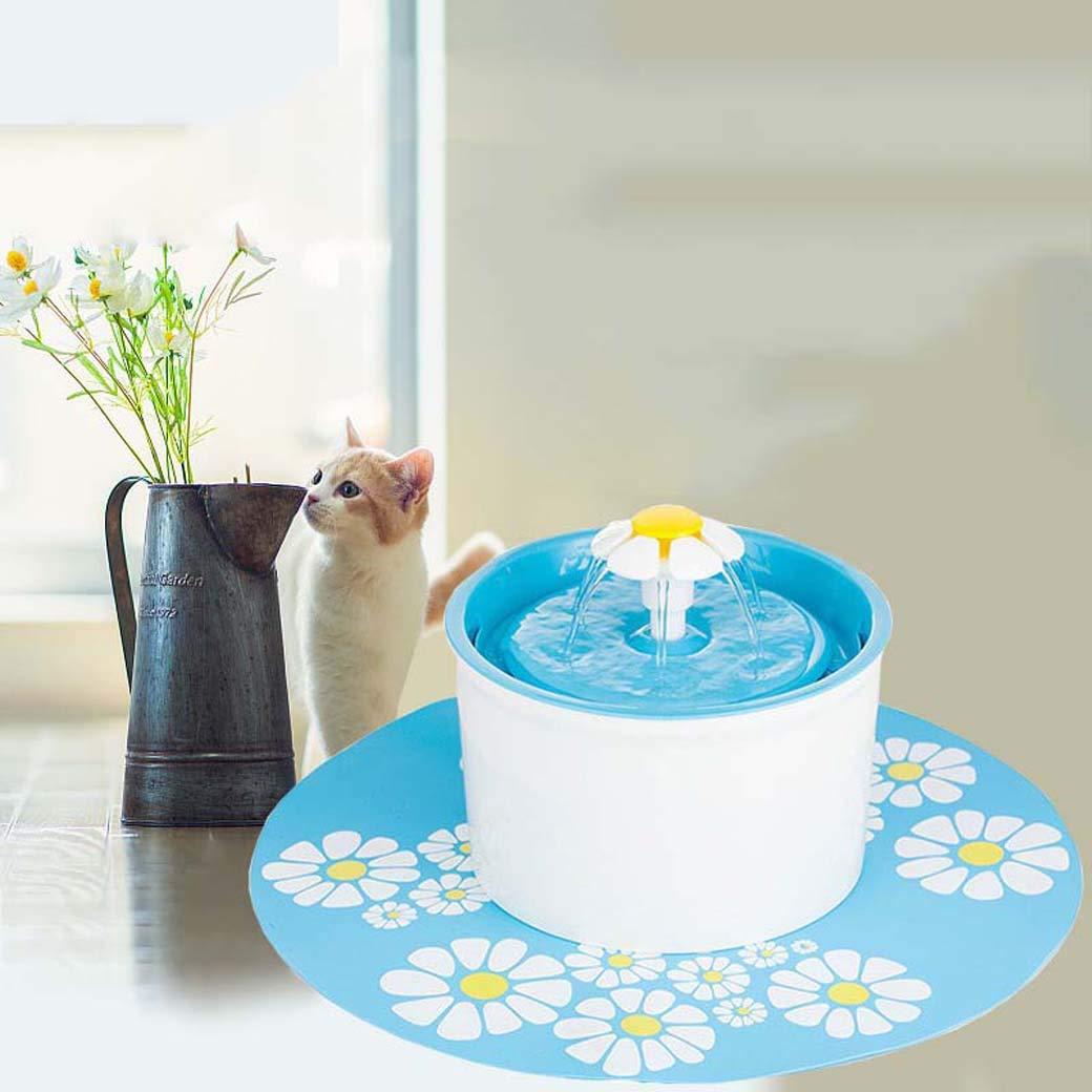 GLMAMK Dispensador de Agua pequeño, dispensador de Fuente de Agua automático silencioso, para Gatos y Perros pequeños (Color : Verde): Amazon.es: Productos ...