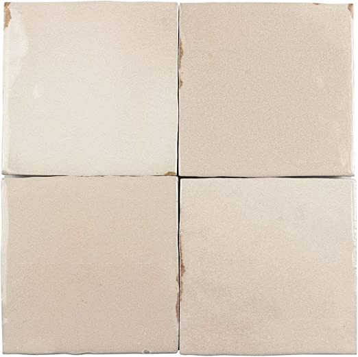 Amazon Com Mto0565 Modern 4x4 Beige Distressed Glossy Ceramic Tile Sample Swatch Home Kitchen