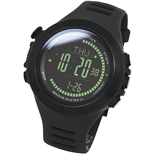 LAD-WEATHER Swiss-Sensor-Trekking-Watch Altimeter-Barometer-Compass-