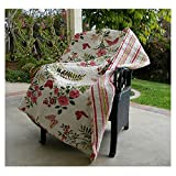 Best Greenland Home Home Fashion Pinks - Greenland Home Fashions Quilted Throw (Butterflies) Review