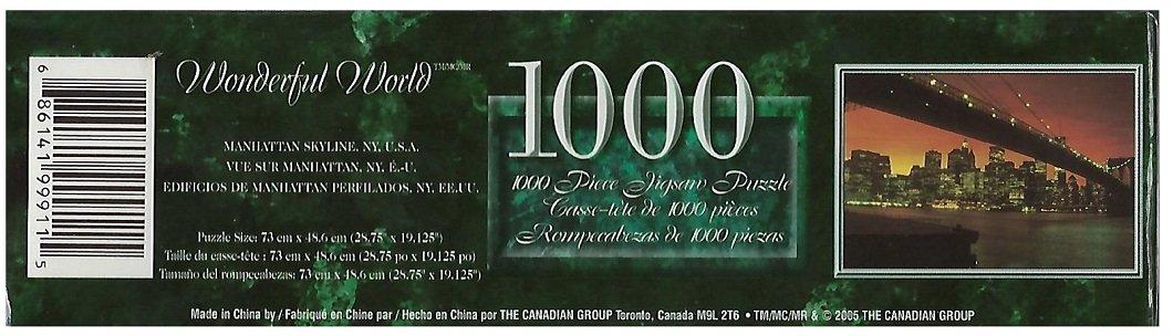 NY U.S.A Wonderful World 1000 Piece Jigsaw Puzzle Manhattan Skyline The Canadian Group