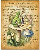 Alice in Wonderland - Advice From a Caterpillar - 11x14 Unframed Alice in Wonderland Print
