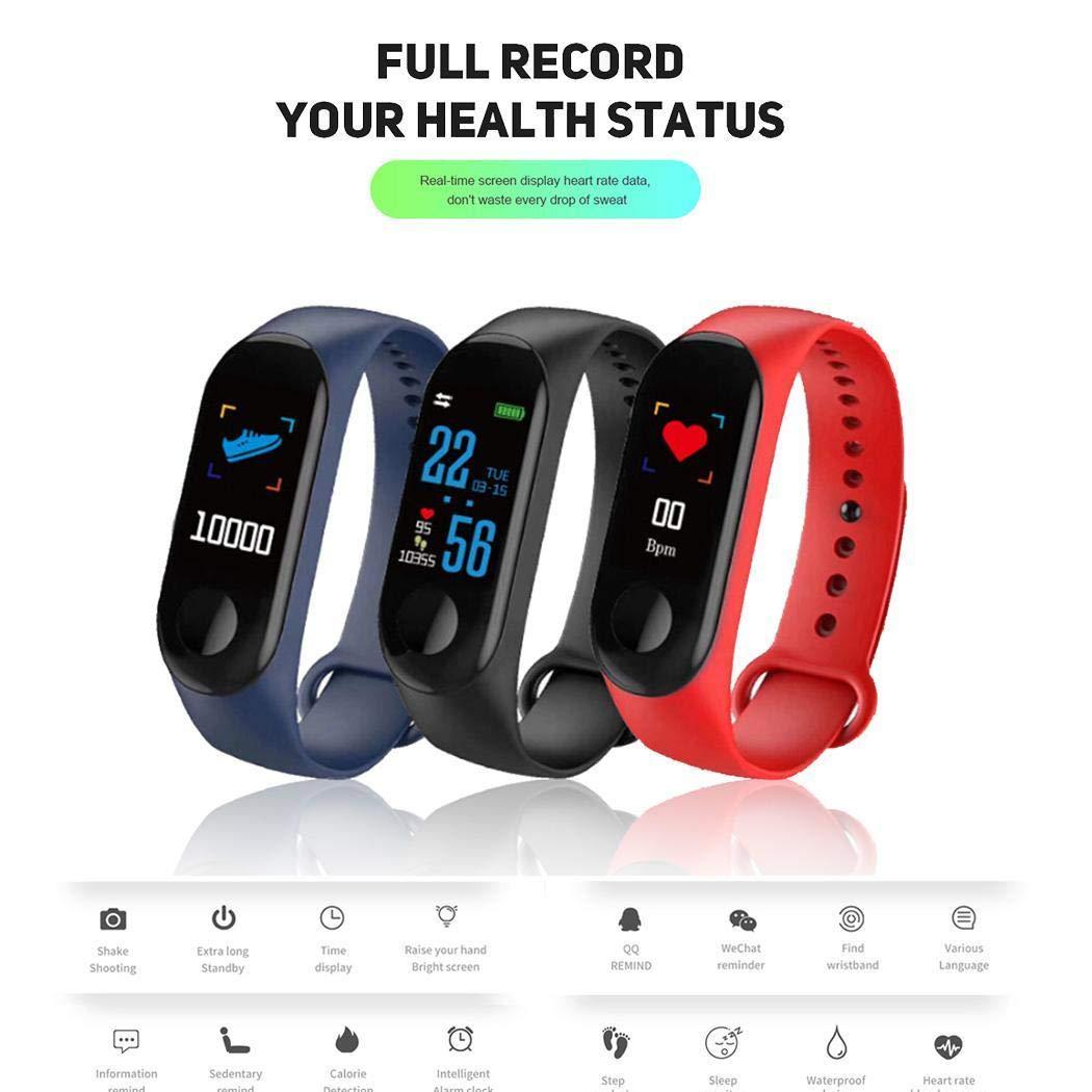 Bluetooth Reloj Inteligente Rastreador de Ejercicios Monitor de Ritmo Cardiaco Deportivo Smartwatch