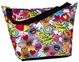 iscream 'Love 2 Laugh' Weekender 23.5'' x 16'' x 9'' Travel Tote Bag with Adjustable Strap