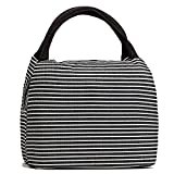 Travel Small Cosmetic Bag Set for Women Lovely Light Waterproof Make Up Bag Tote Purse - Black Line