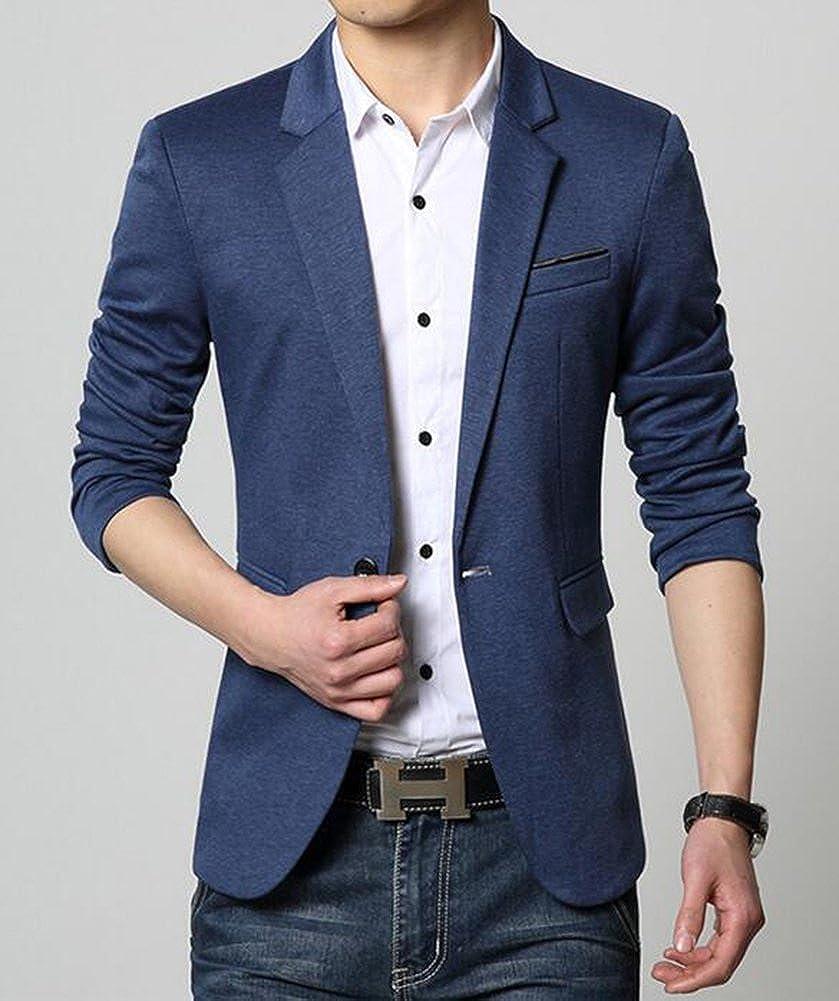 Beninos Mens Premium Casual One Button Slim Fit Blazer Suit Sport Coat Jacket
