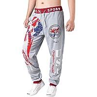 Moda Color Sólido Pantalones Casuales para Hombre Chándal