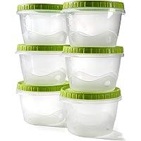Envases comida tapers hermetico potes congelar sopa bebé