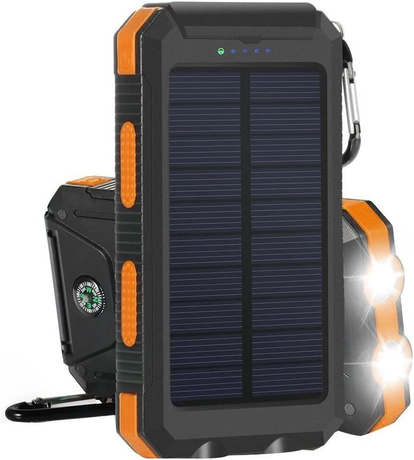 : Amersin Solar Charger 10000mAh Power Bank