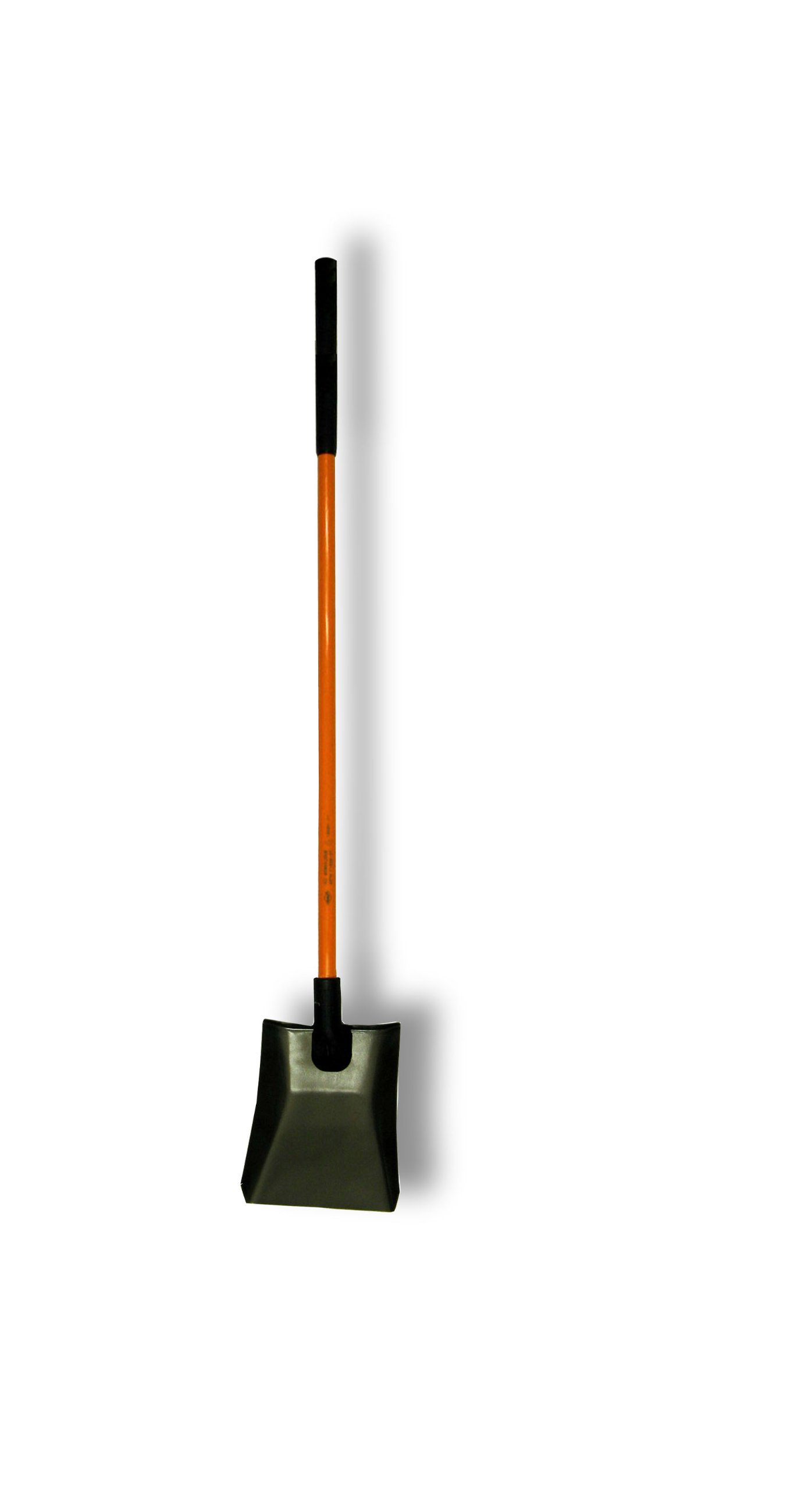 Nupla NC-SP14LPY Power Pylon Square Point Shovel with Heavy-Duty 14 Gauge Solid Back Blade and Butt Grip, 48'' Solid Long Handle