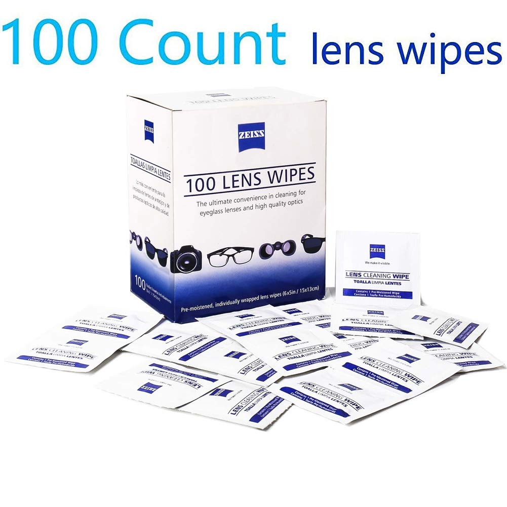 Lens Cleaning Wipes, Pre Moistened Cleansing Cloths Great for Eyeglasses, Tablets, Camera Lenses