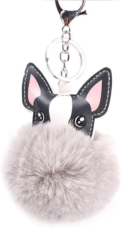 Fox Tail Key Ring about 43cm Animal Tail Key Pendant Pompoms Keychain Women Key Ring Holder Bag Accessories Pendant Car Key Chain Key Bag Pendant Soft Fluffy Decorations