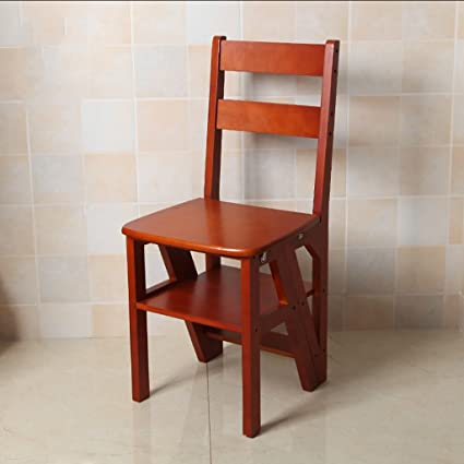 Sensational Amazon Com Solid Wood Step Stool 4 Step Climbing High Unemploymentrelief Wooden Chair Designs For Living Room Unemploymentrelieforg