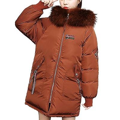Abrigo Grueso de Invierno para Mujer, de Piel sintética, con Capucha, cálido, Delgado, Estampado Animal: Ropa y accesorios