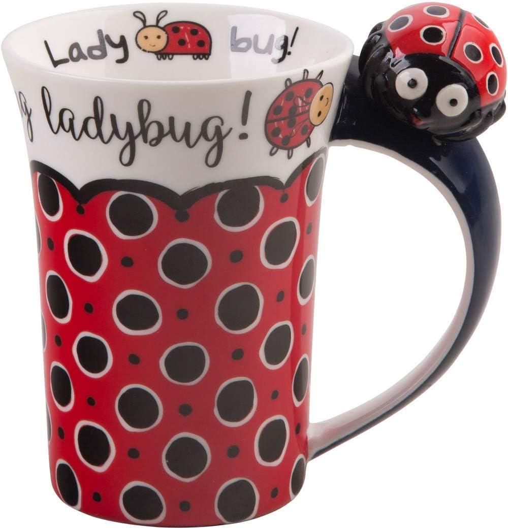 Home Essentials 10 Oz Ladybug Mug with Ladybug on Handle
