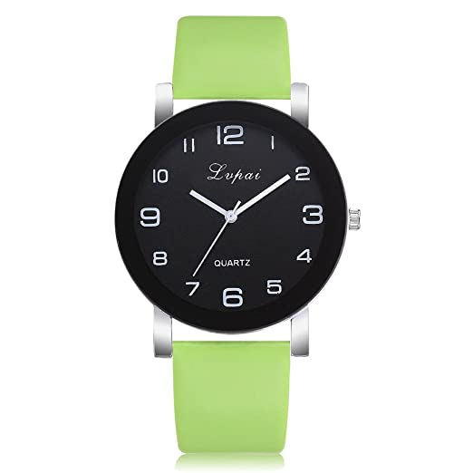 Women Quartz Watches Clearance Sale,Fashion Leather Band Watch Simple Bracelet Wristwatch Alloy Analog Quartz