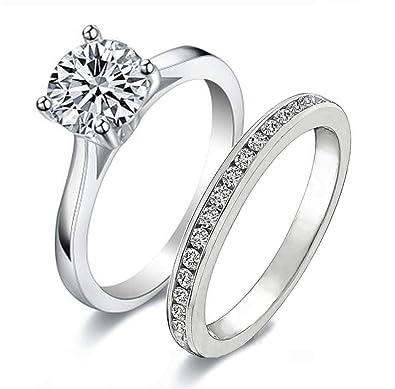 Amazon.com: Venetia Realistic - Anillo con diamante de ...