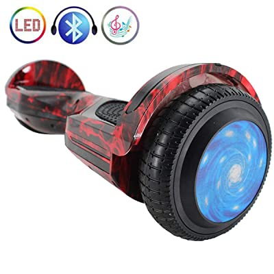 "X-PRO 6.5"" Self Balancing Scooter Hoverboard with Bluetooth, LED Lights!(Hot Flame): Sports & Outdoors"
