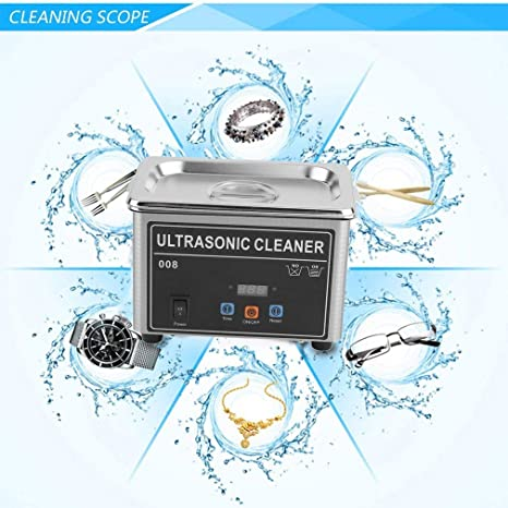 Olayer 0.8L Professional Digital Ultrasonic Cleaner Machine with 18 Time Setting Clean