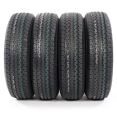 Pack of 4 ST225/75R15 Trailer Tires 10 Ply Load Range E Radial Tire 2257515