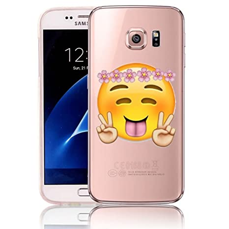 Funda Samsung Galaxy S6 G9200 SM-G920F Vandot Ultra Fina Transparente Carcasa Trasera Suave Flexible de TPU Protectora Claro Cristal Caso Bumper Case ...
