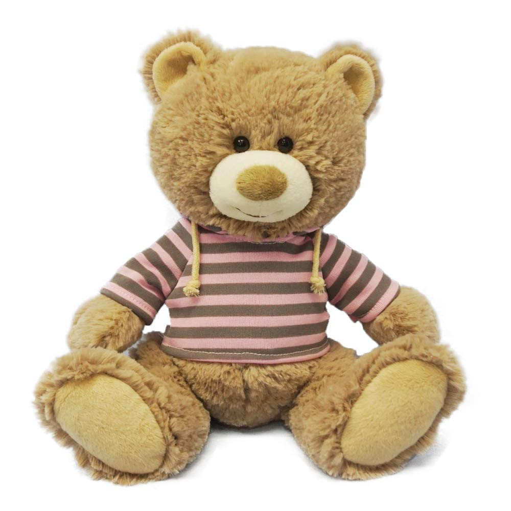 DORE Teddy Bear Stuffed Animal Plush Lovely Brown with Cloth for Girlfriend