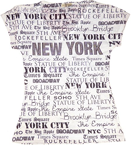 Sweet Gisele New York Inspired Stud Embellished Short-Sleeved T-Shirt - Small - Bling Jeans Studs