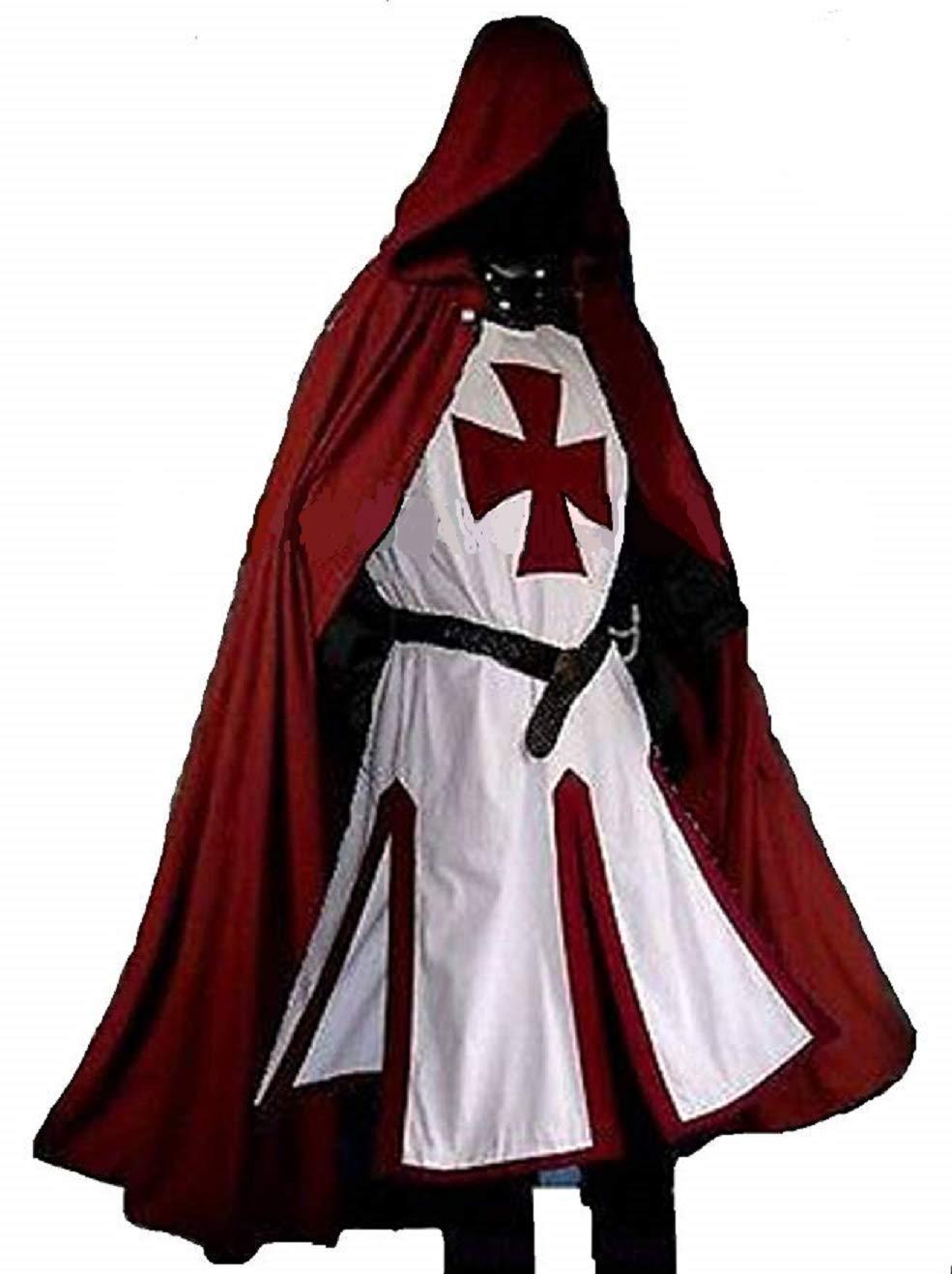 ANTIQUECOLLECTION Medieval Templar Knight Crusader Surcoat & Cloak Reenactment LARP