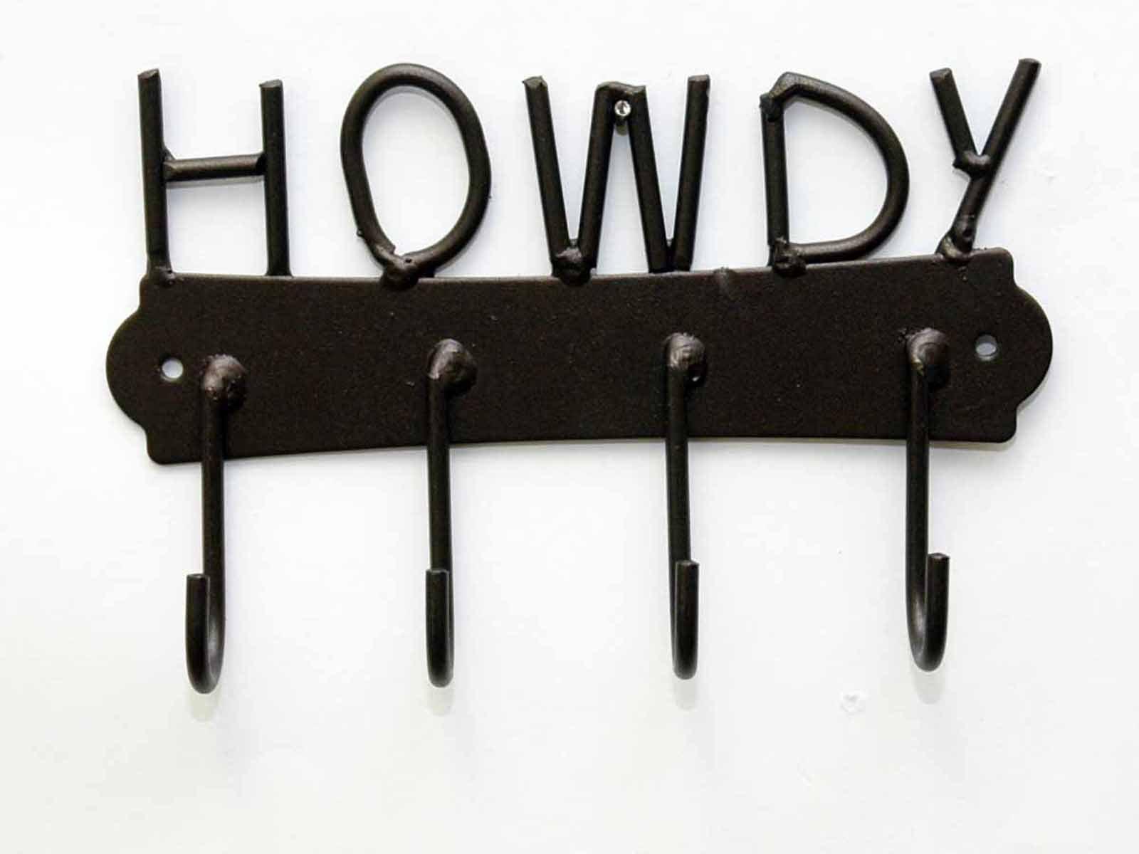 HOWDY IRON KEY/TOWEL HOLDER-8''W x 5''H