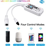 Konxie Smart WiFi RGB/GRB LED Controller for 5050 3528 LED Strip Light, 24 Key Remote Control, Compatible with Alexa and Google Home Assistant