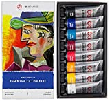 ZenART's Essential Palette Oil Paint Set – with Fundamental Colours from The Infinity Series of Professional Artists' Oil Colours, Non-Toxic, Lightfast, High Pigment Load, 8 (1.52 fl oz) Tubes
