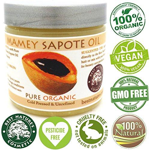 Mamey Sapote Oil Pure Organic Cold Pressed Unrefined 16 fl oz / 472 ml