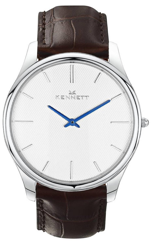 Silber-Weiss-Braun Kensington Herren-Armbanduhr von Kennett (