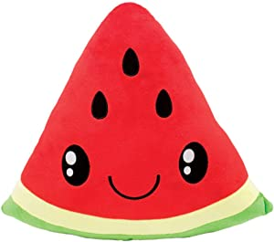 Scentco Smillows - Scented Stuffed Plush Accent Throw Pillow, Room Decor, Gift for Kids - Watermelon