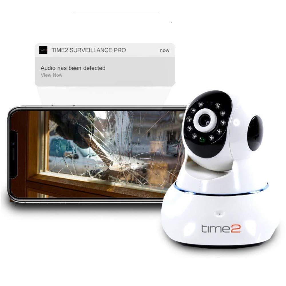 IP Cámara WIFI Videovigilancia para Seguridad – Cámara Vigilancia HD con Visión Nocturna Infrarroja, Detección de Movimientos & Sonido, Micrófono y ...